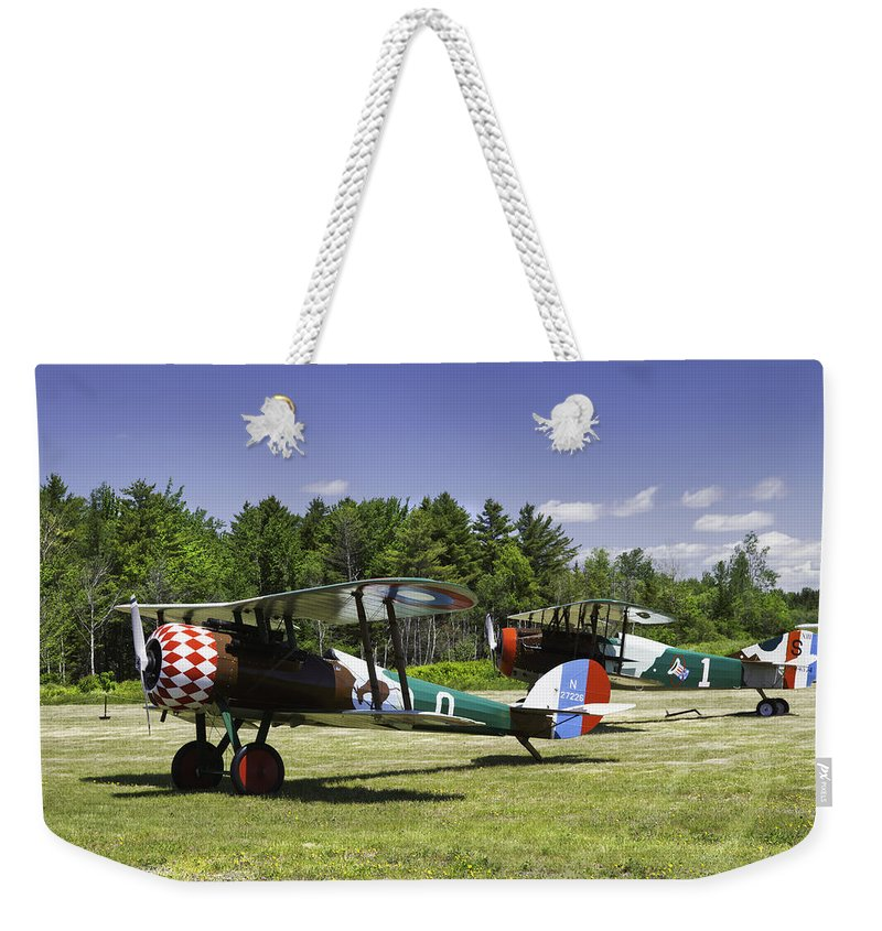 1917 Nieuport 28c.1 Weekender Tote Bag featuring the photograph 1917 Nieuport 28c.1 Fighter World War One Photo by Keith Webber Jr