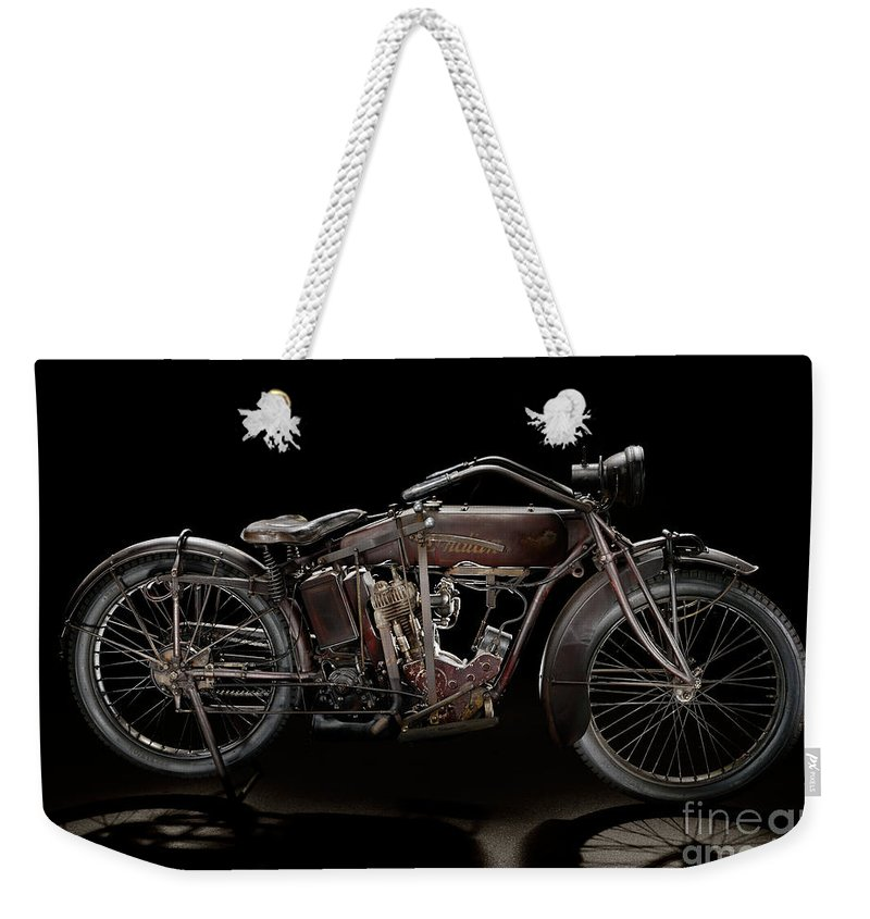 Classic Weekender Tote Bag featuring the photograph 1920 Indian Powerplus Single by Frank Kletschkus