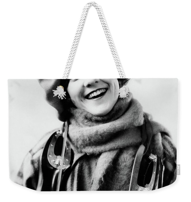 Photography Weekender Tote Bag featuring the photograph 1920s 1930s Smiling Woman Dressed by Vintage Images