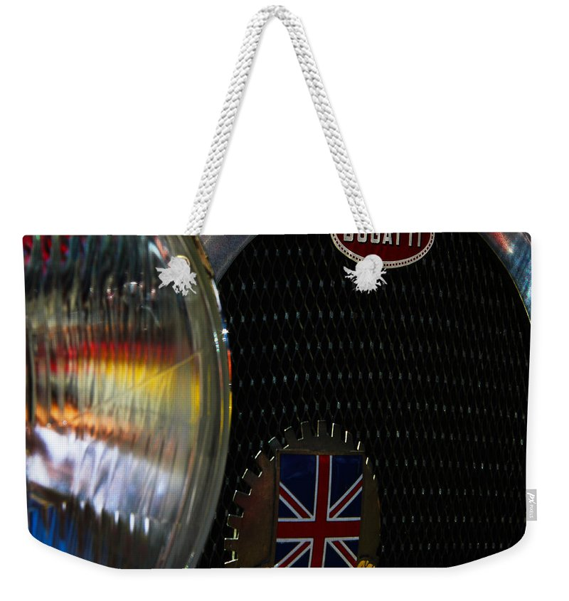 Classic Cars Weekender Tote Bag featuring the photograph 1920s Racer by Digital Kulprits