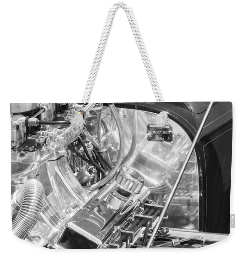 1923 Ford T-bucket Engine Weekender Tote Bag featuring the photograph 1923 Ford T-bucket Engine 2 by Jill Reger
