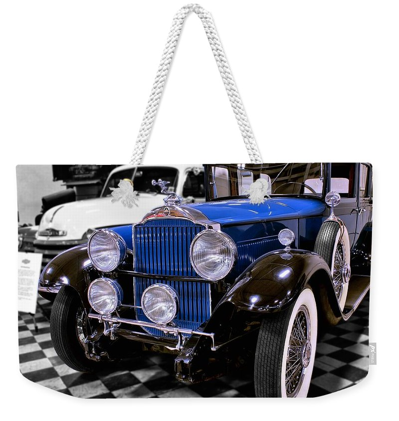 1930 Weekender Tote Bag featuring the photograph 1930 Packard Limousine by Michael Gordon
