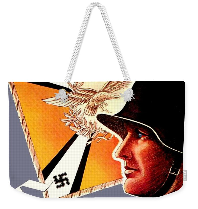 1941 Weekender Tote Bag featuring the digital art 1939 German Luftwaffe Recruiting Poster - Color by John Madison