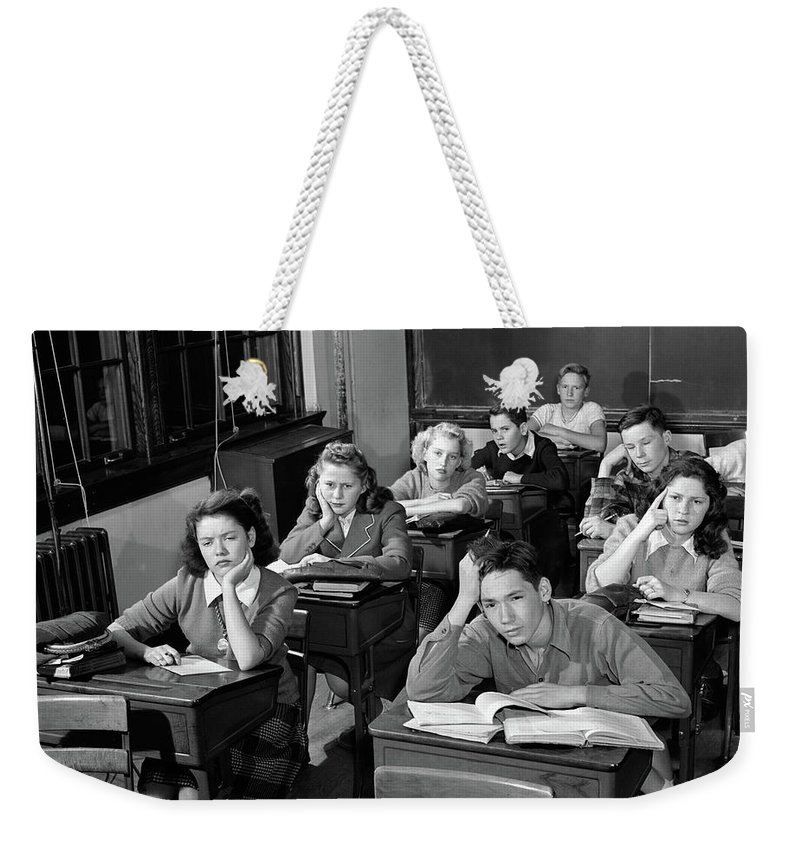 1940s 1950s High School Classroom Weekender Tote Bag