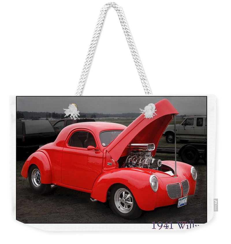 1941 Willys Weekender Tote Bag featuring the photograph 1941 Willys by Mike Penney