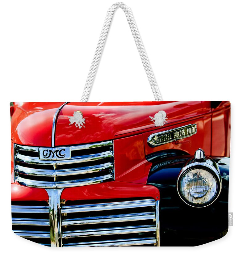 1942 Gmc Pickup Truck Weekender Tote Bag featuring the photograph 1942 Gmc Pickup Truck by Jill Reger