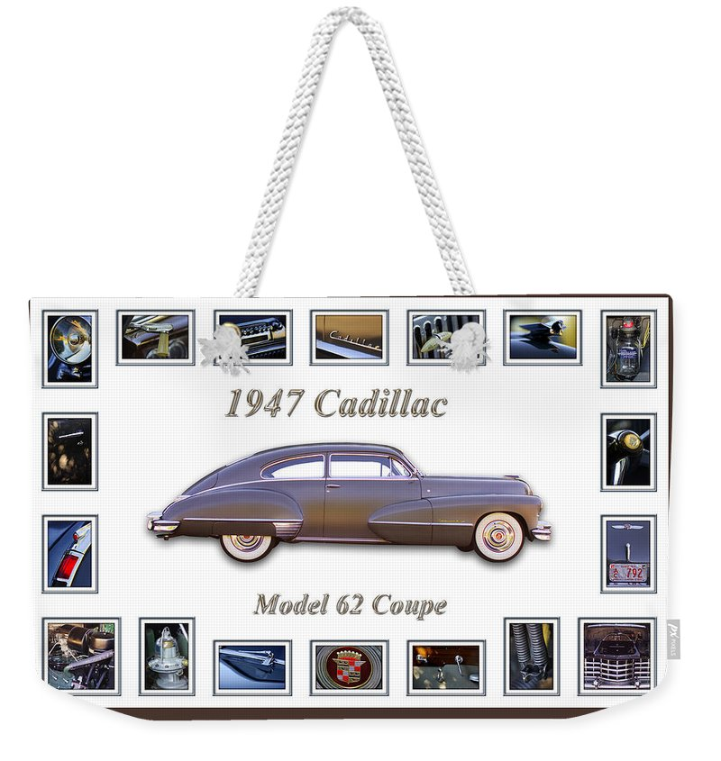1947 Cadillac Model 62 Coupe Art Weekender Tote Bag featuring the photograph 1947 Cadillac Model 62 Coupe Art by Jill Reger