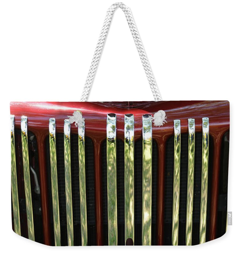 Truck Weekender Tote Bag featuring the photograph 1947 Farm Truck by Gale Cochran-Smith