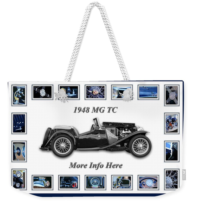 1948 Mg Tc Art Weekender Tote Bag featuring the photograph 1948 Mg Tc by Jill Reger