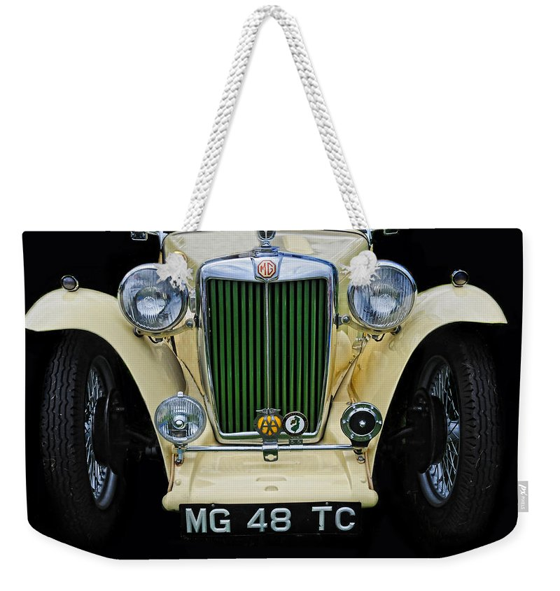 Mg Weekender Tote Bag featuring the photograph 1948 Mgtc by Dave Mills