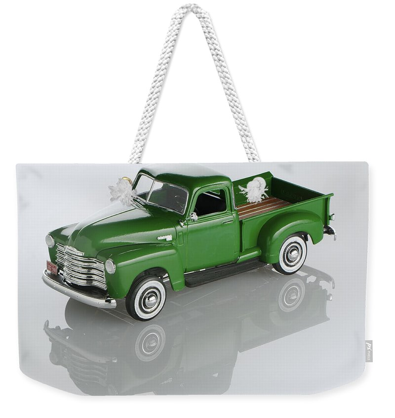 1951 Chevy Pick-up Weekender Tote Bag featuring the photograph 1951 Chevy Pick-up by Robert Mollett