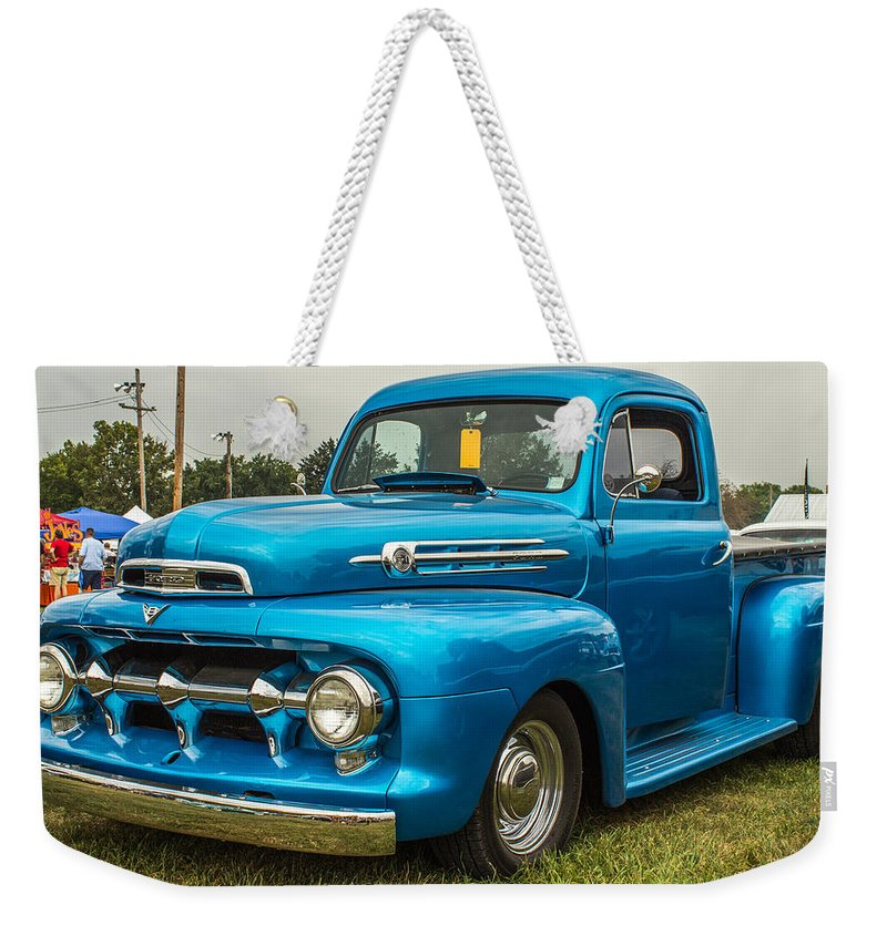 Hot Rod Weekender Tote Bag featuring the photograph 1951 Ford by Ken Kobe