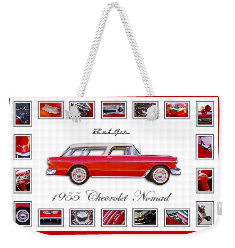 1955 Chevrolet Belair Nomad Art Weekender Tote Bag featuring the photograph 1955 Chevrolet Belair Nomad Art by Jill Reger