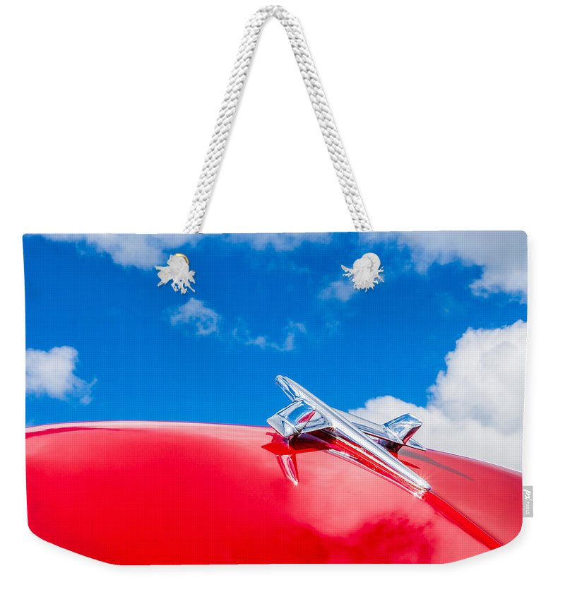 Automobile Weekender Tote Bag featuring the photograph 1955 Chevy by Lauri Novak