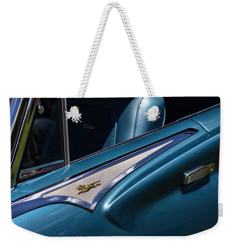 1961 Weekender Tote Bag featuring the photograph 1961 Chrysler New Yorker Town And Country by Gordon Dean II