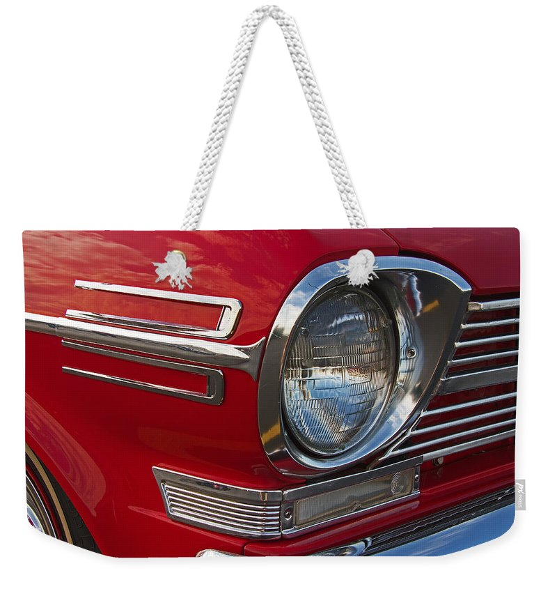 1962 Weekender Tote Bag featuring the photograph 1962 Chevrolet Nova by Nick Gray