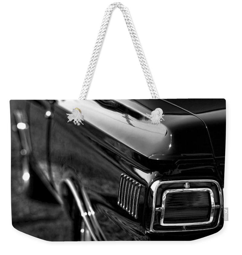 1965 Weekender Tote Bag featuring the photograph 1965 Plymouth Satellite by Gordon Dean II