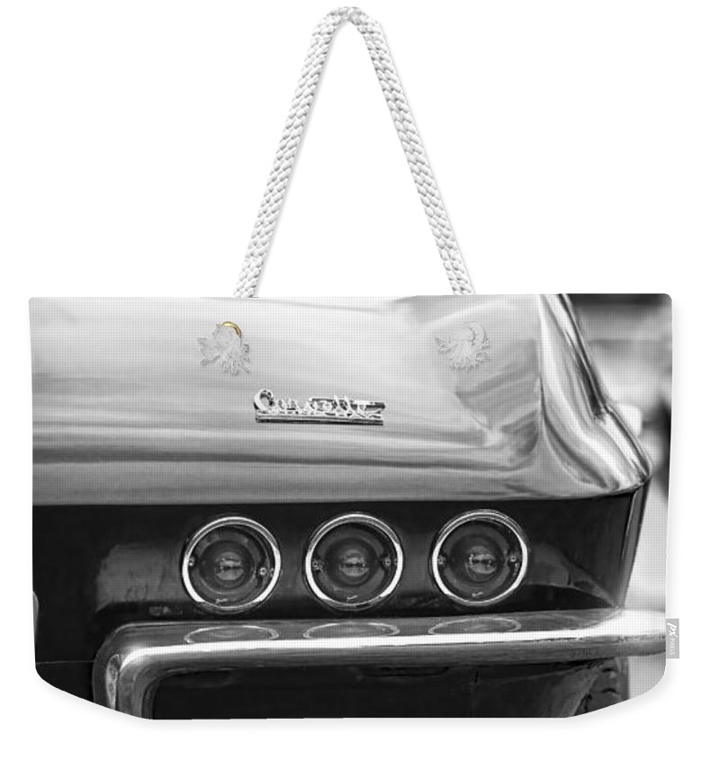 Chevy Weekender Tote Bag featuring the photograph 1967 Chevy Corvette Stingray by Gordon Dean II