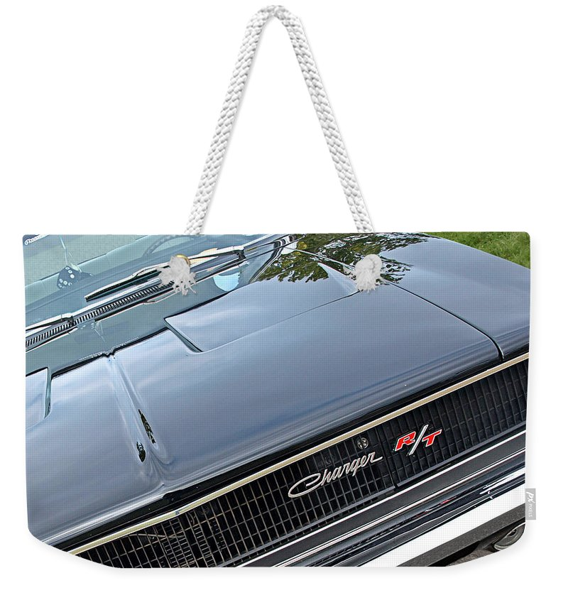 Dodge Charger Weekender Tote Bag featuring the photograph 1968 Dodge Charger by Gill Billington