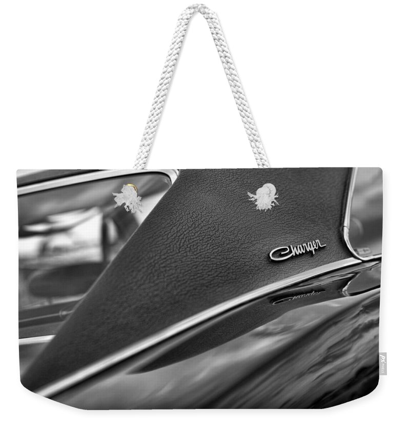 1968 Weekender Tote Bag featuring the photograph 1968 Dodge Charger Rt by Gordon Dean II