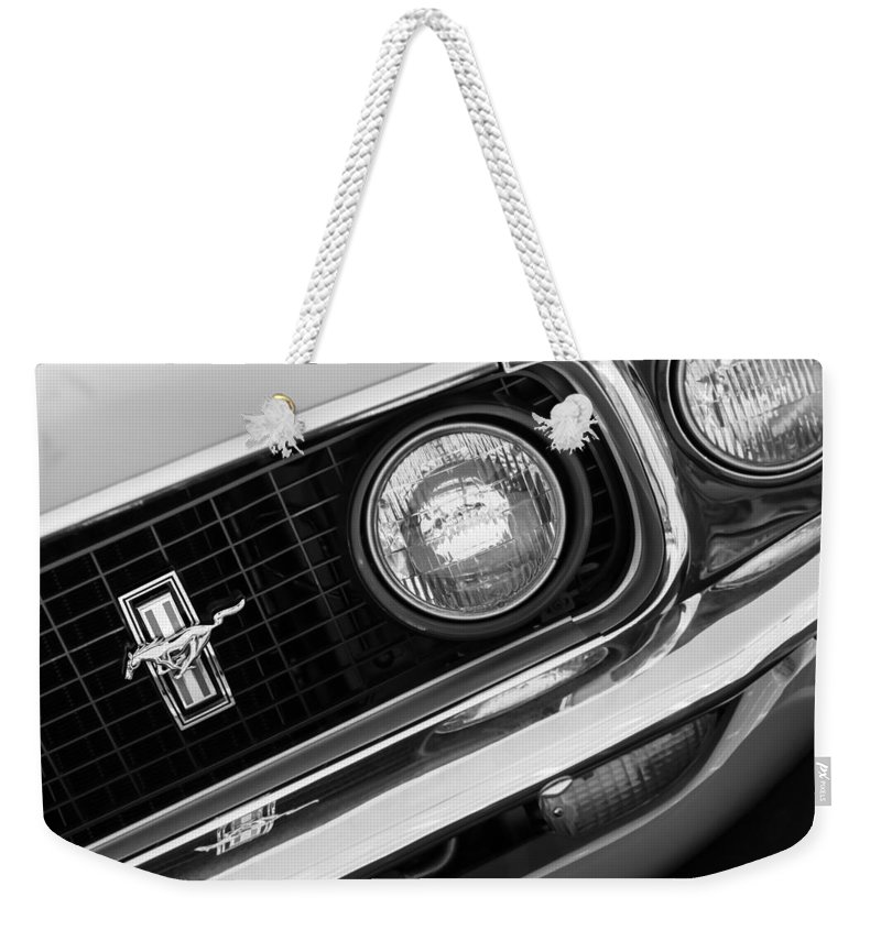 Mustang Boss 429 For Sale >> 1969 Ford Mustang Boss 429 Grill Emblem Weekender Tote Bag