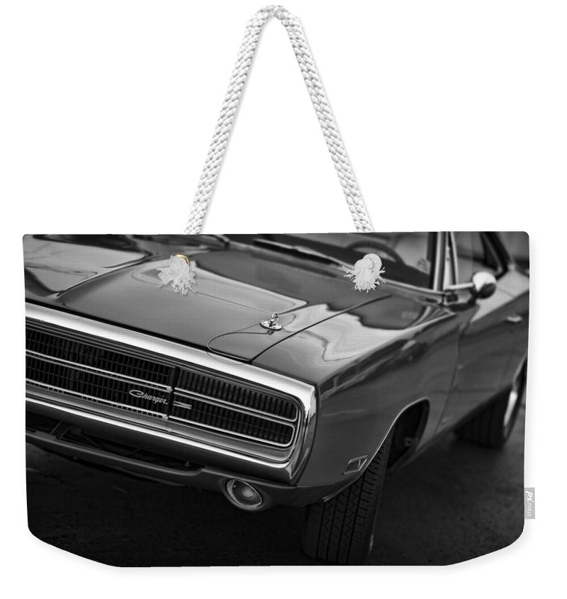 1970 Weekender Tote Bag featuring the photograph 1970 Dodge Charger by Gordon Dean II