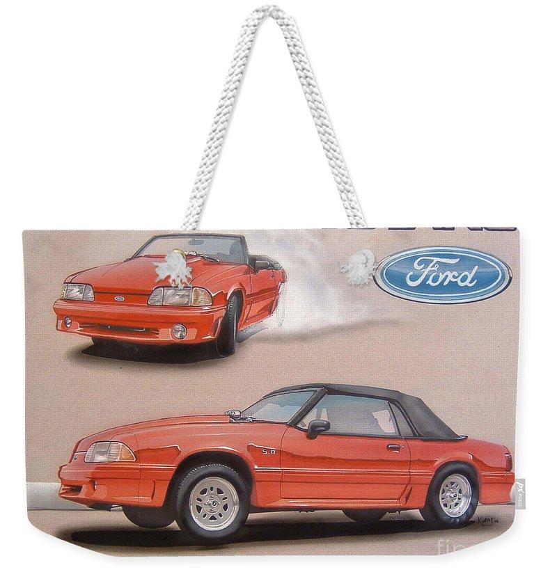 Mustang 5.0 Weekender Tote Bags