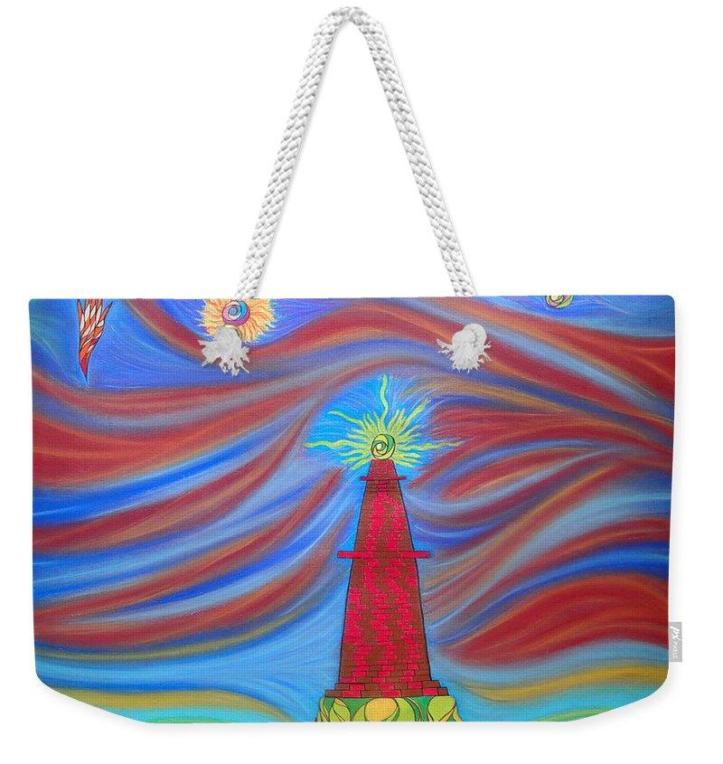 Pastel Weekender Tote Bag featuring the pastel 1kin by Robert Nickologianis