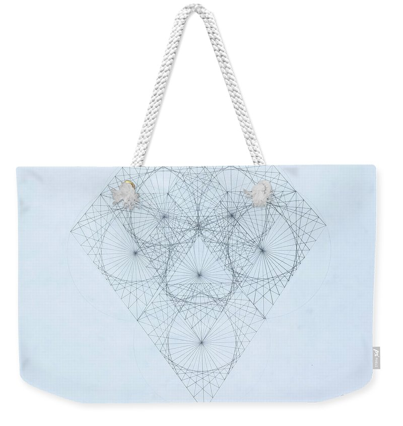 Jason Padgett Weekender Tote Bag featuring the drawing Diamond Quanta by Jason Padgett