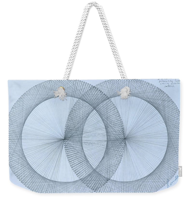Magnet Weekender Tote Bag featuring the drawing  Magnetism by Jason Padgett