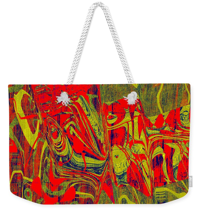 Abstract Weekender Tote Bag featuring the digital art 0477 Abstract Thought by Chowdary V Arikatla