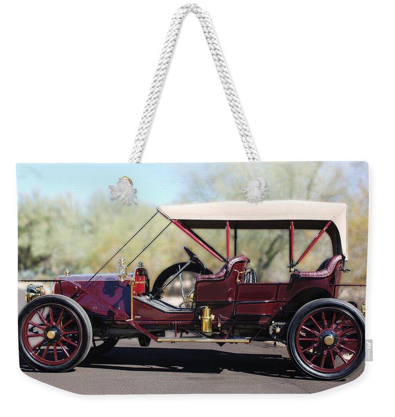 1907 Panhard Et Levassor Weekender Tote Bag featuring the photograph 1907 Panhard Et Levassor by Jill Reger