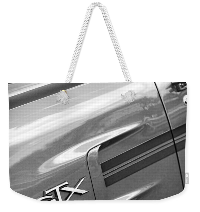 1970 Weekender Tote Bag featuring the photograph 1970 Plymouth Gtx by Gordon Dean II