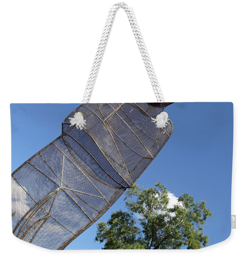 September Weekender Tote Bag featuring the photograph Minujin's A Man Of Mesh by Cora Wandel