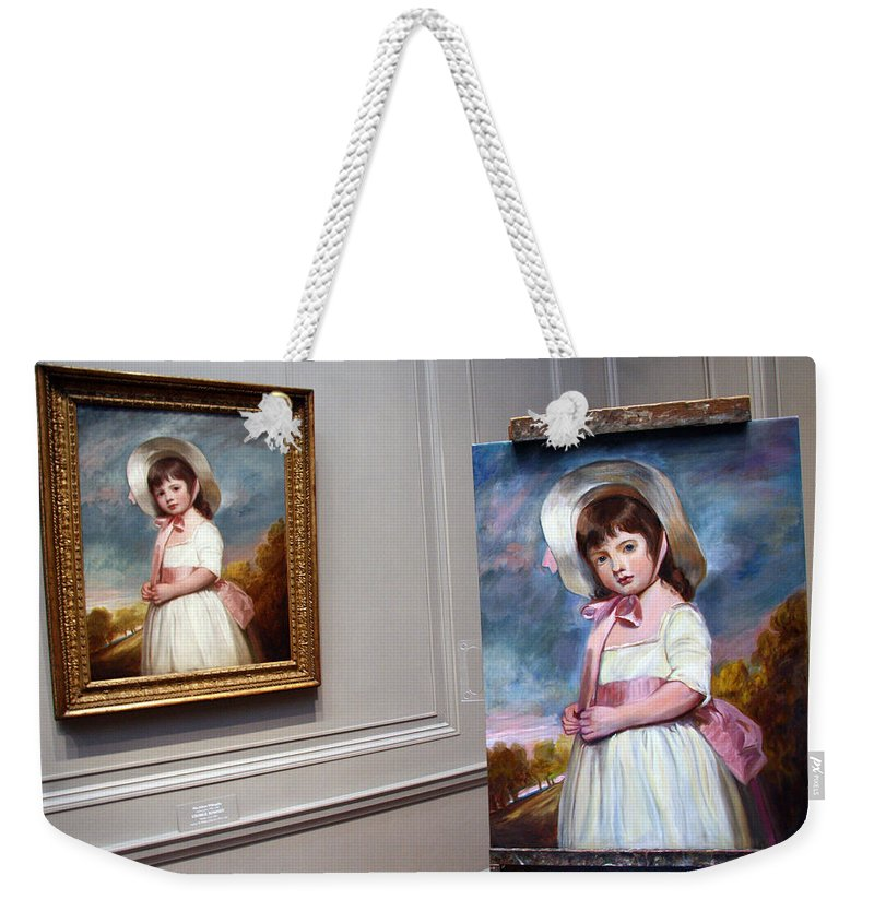 National Gallery Of Art Weekender Tote Bag featuring the photograph A Painting Of A Painting by Cora Wandel
