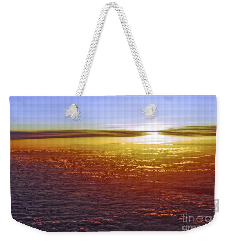 Sky Weekender Tote Bag featuring the photograph Above The Clouds by Elena Elisseeva