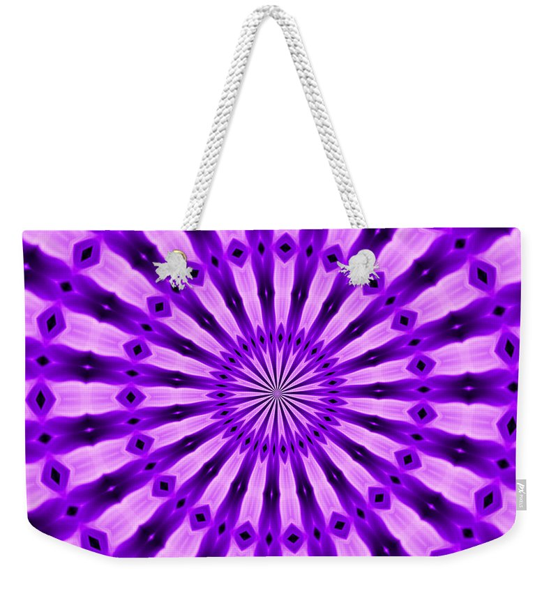 Original Weekender Tote Bag featuring the painting Abstract 122 by J D Owen