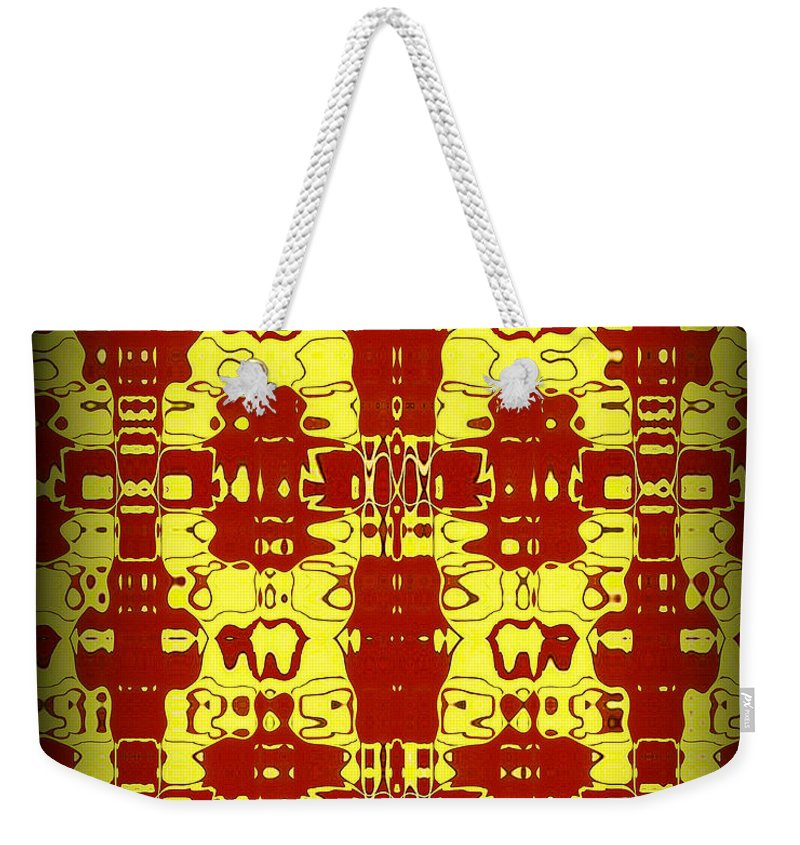 Original Weekender Tote Bag featuring the painting Abstract Series 8 by J D Owen