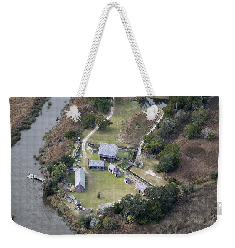 Jekyll Weekender Tote Bag featuring the photograph Aerial Near Jekyll Island by Betsy Knapp