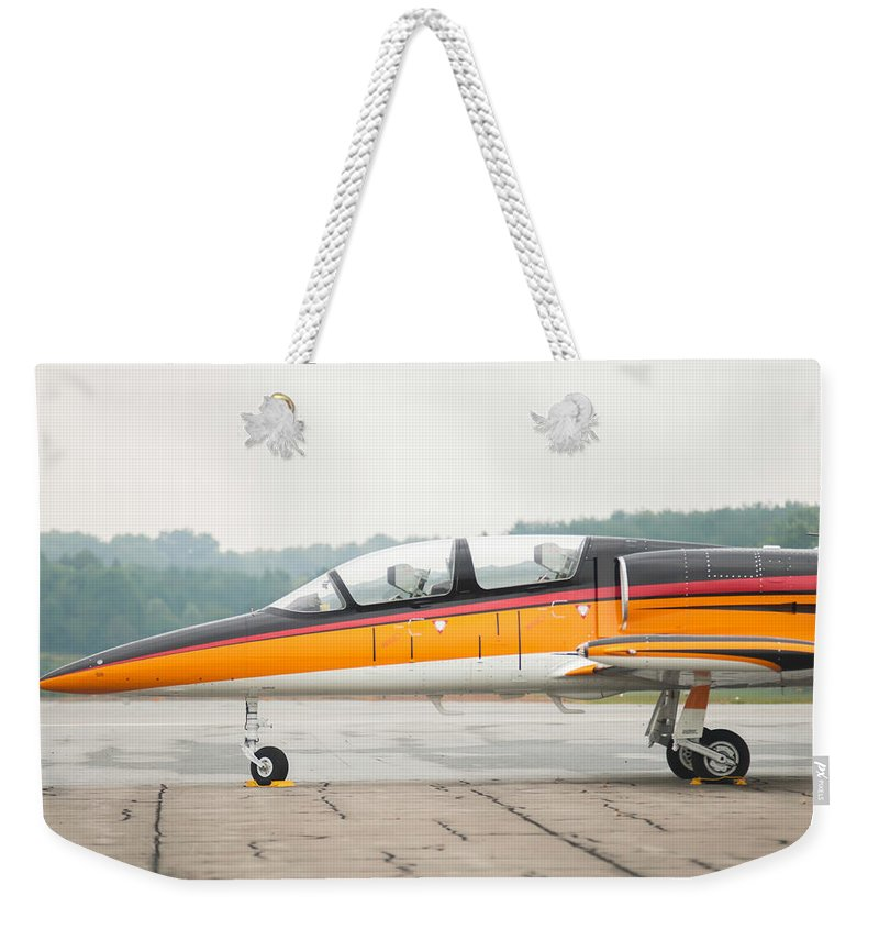 2013 Weekender Tote Bag featuring the photograph Airplanes At The Airshow by Alex Grichenko