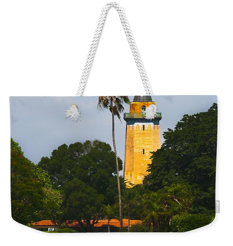 Alhambra Water Tower Weekender Tote Bag featuring the photograph Alhambra Water Tower by Ed Gleichman