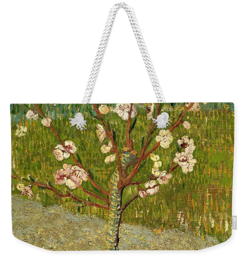 Vincent Van Gogh Weekender Tote Bag featuring the painting Almond Tree In Blossom by Vincent Van Gogh