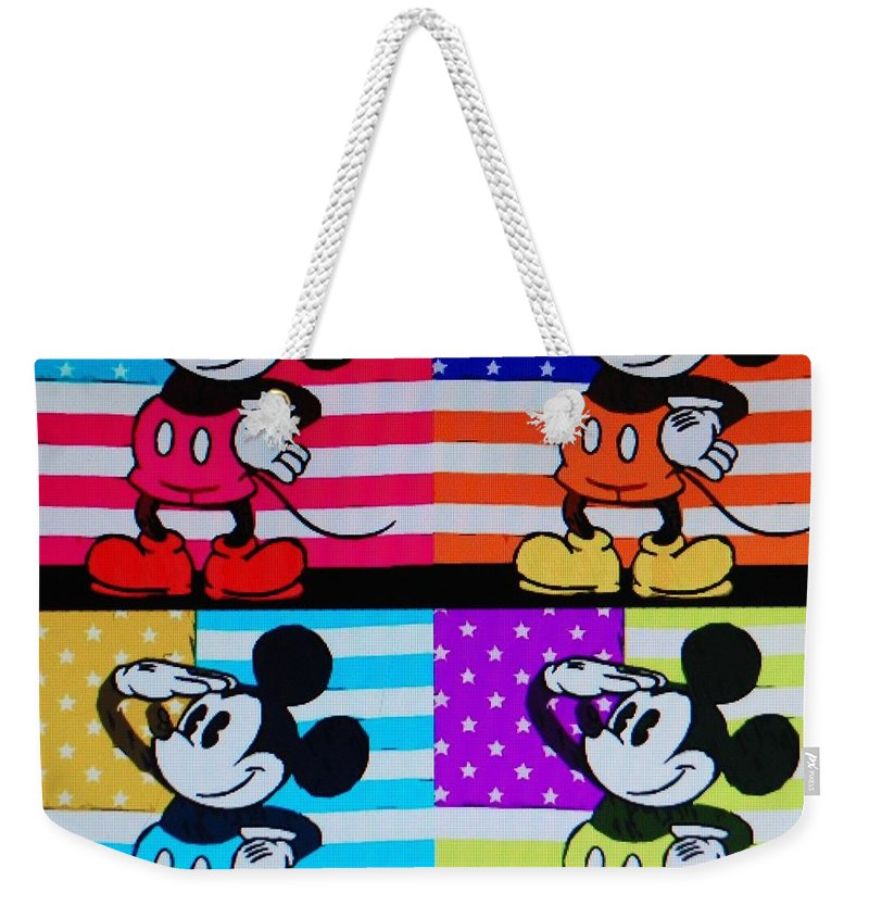Mickey Mouse Weekender Tote Bag featuring the photograph American Mickey by Rob Hans