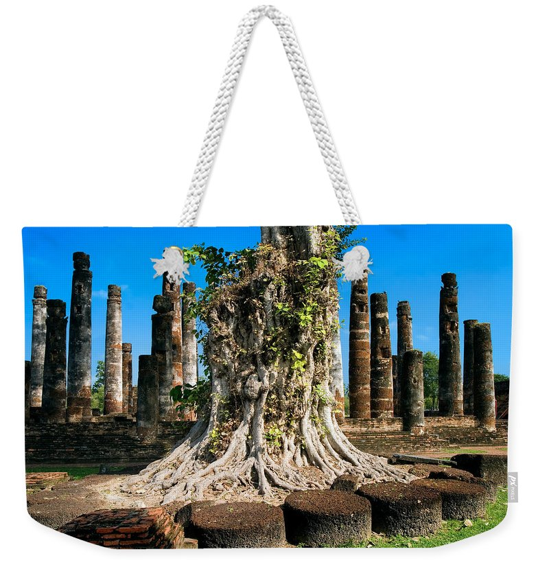 Old Weekender Tote Bag featuring the photograph Ancient Temple Ruins by Artur Bogacki