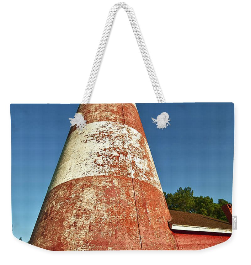 Assateague Weekender Tote Bag featuring the photograph Assateague Lighthouse by John Greim