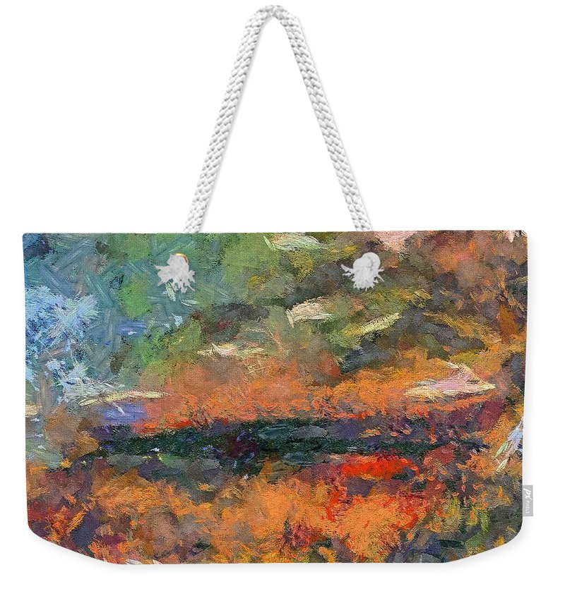 Dawn Weekender Tote Bag featuring the painting At Dawn by Dragica Micki Fortuna