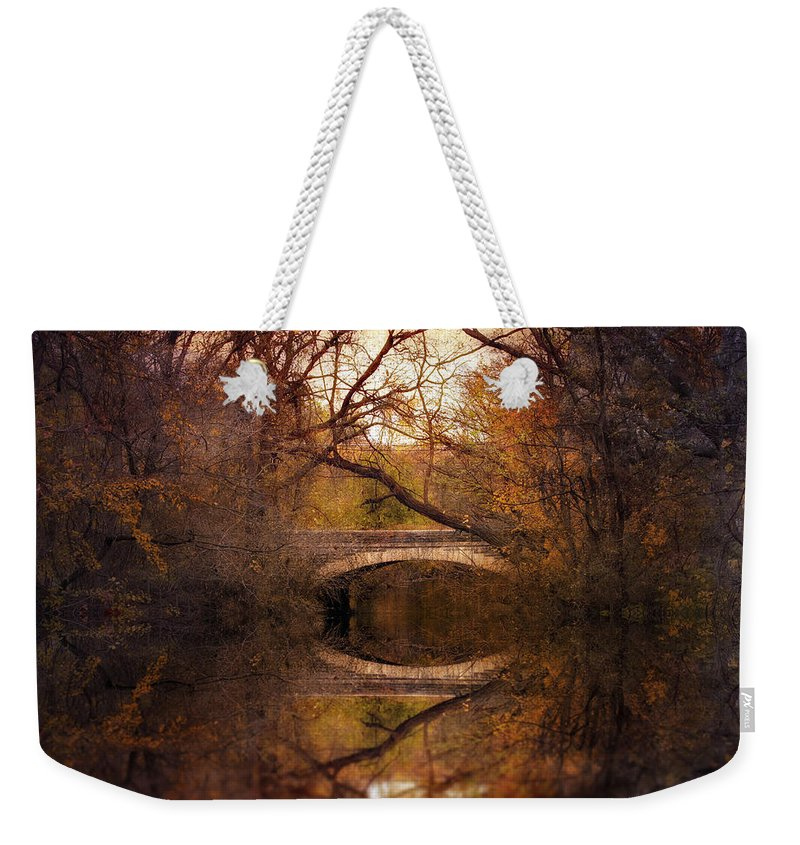 Autumn Weekender Tote Bag featuring the photograph Autumn's End by Jessica Jenney