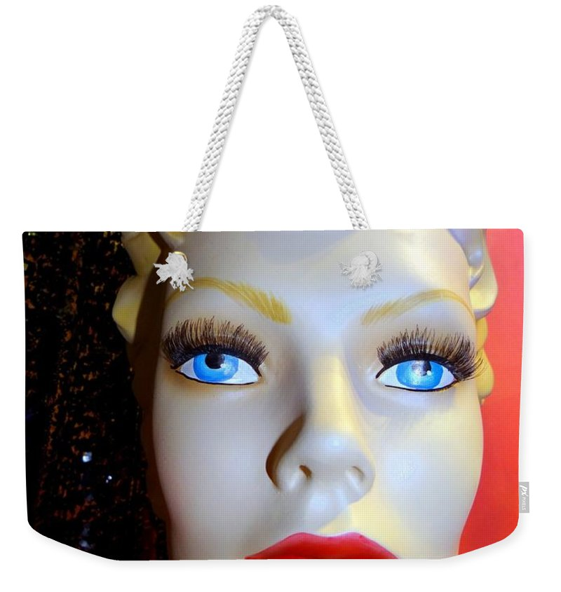 Mannequins Weekender Tote Bag featuring the photograph Baby Blues by Ed Weidman