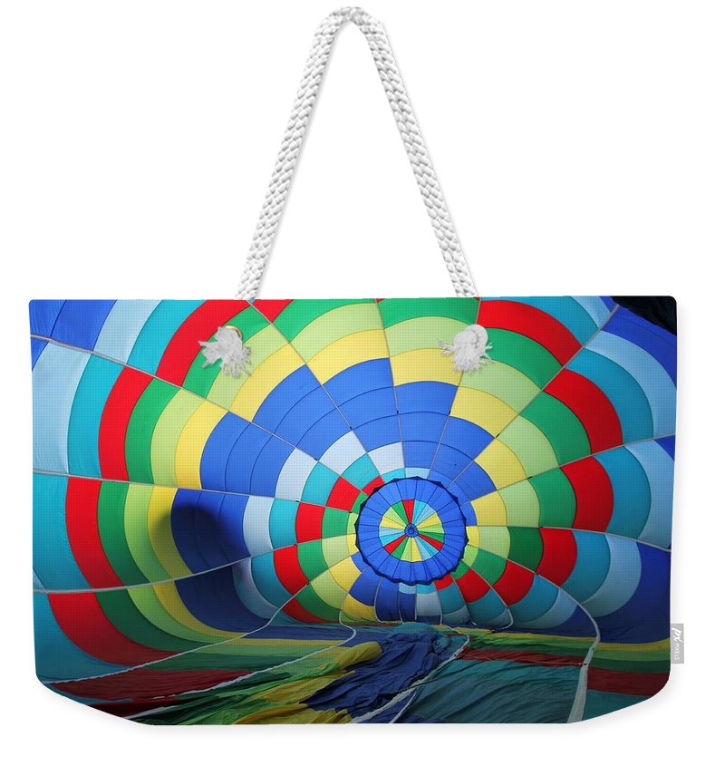 Colors Weekender Tote Bag featuring the photograph Balloon Fantasy 22 by Allen Beatty