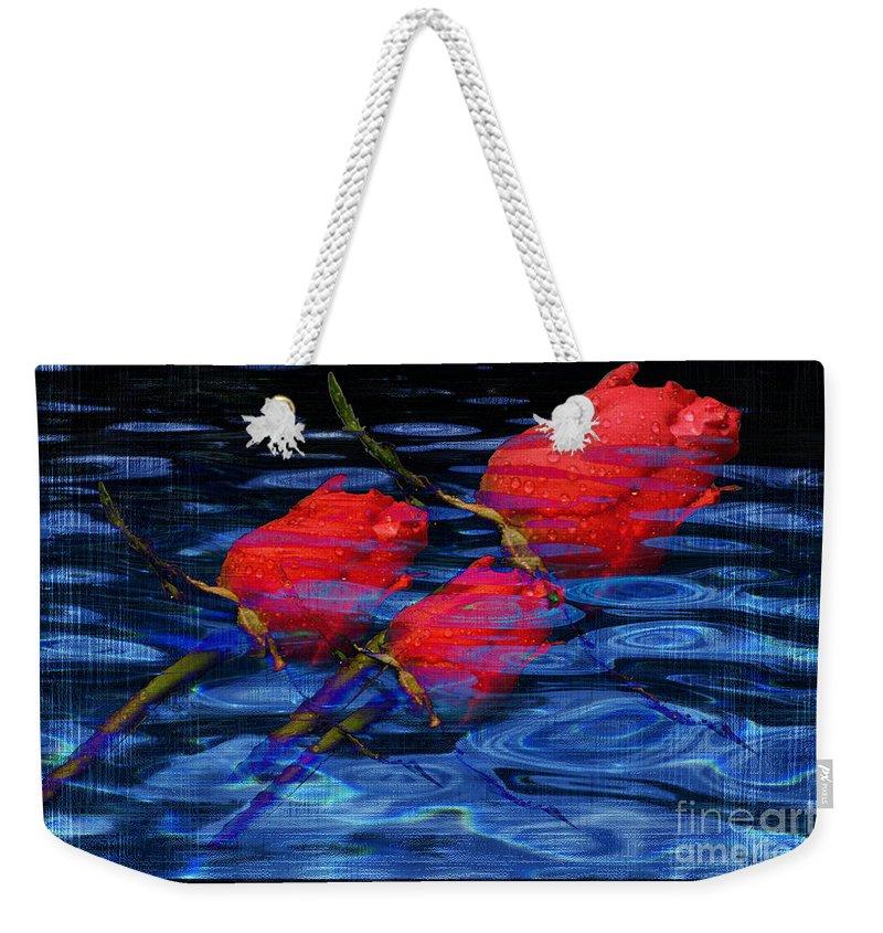 Rose Image Weekender Tote Bag featuring the digital art Be Mine by Yael VanGruber